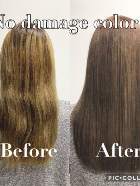 髪質改善ノンダメージカラー